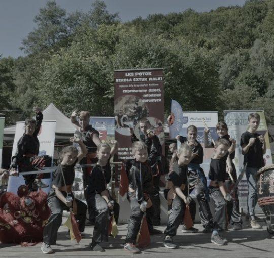 Pokaz kungfu w trakcie Ekobiegu Po Dolinie